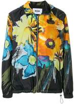 MSGM floral print lightweight jacket