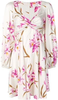 Zimmermann Ruched Floral Print Dress