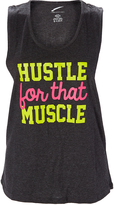 L.A. Gear Dark Charcoal Heather 'Hustle For That Muscle' Tank