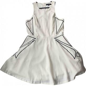 MDS Stripes White Dress for Women