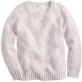J.Crew Girls' jeweled cluster sweater