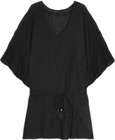 Vix Embroidered voile coverup