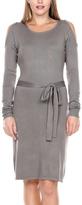 Stanzino Tan Open-Shoulder Sheath Dress