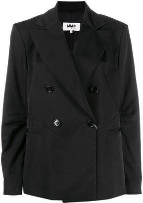 MM6 MAISON MARGIELA Double-Breasted Short Blazer
