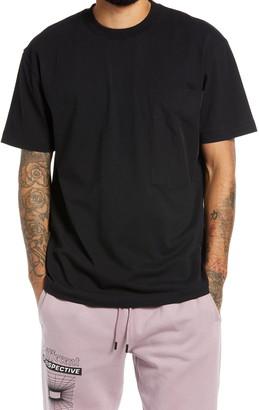 Topman Men's Woven Pocket T-Shirt