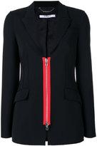 Givenchy zip placket blazer - women - Viscose/Wool - 40