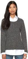 Women's AB Studio Flecked Mock-Layer Sweater
