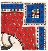 Gucci tiger moon card print scarf
