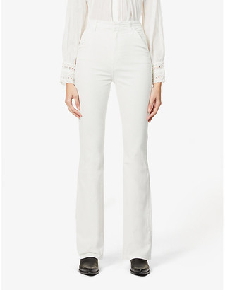 J Brand Runway super high-rise cotton-blend corduroy trousers