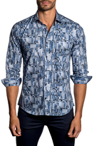 Jared Lang Cotton Geometric Sportshirt