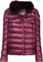 Herno fur trim puffer jacket