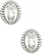 Lagos Fluted Sterling Silver Crystal Quartz Earrings