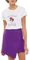 Topshop Women's Asymmetrical Miniskirt