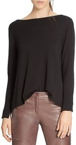 Halston Split-Back Sweater