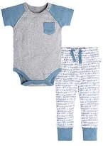 Baby Raglan Organic Cotton Bodysuit and Pant Set