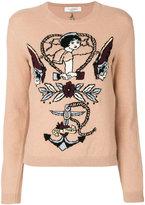 Valentino tattoo intarsia jumper - women - Cashmere/Virgin Wool - XS