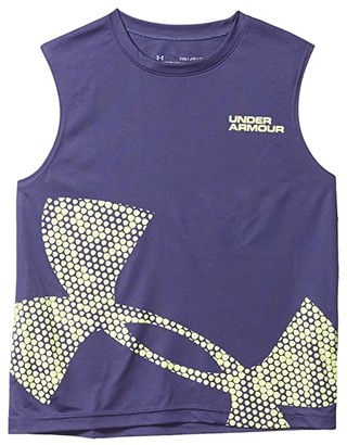 Under Armour Kids Tech Exploded Logo Tank (Big Kids) (Blue Ink/X-Ray) Boy's Clothing