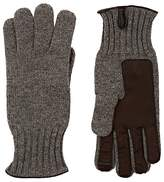Barneys New York Men's Leather-Accented Cashmere Gloves
