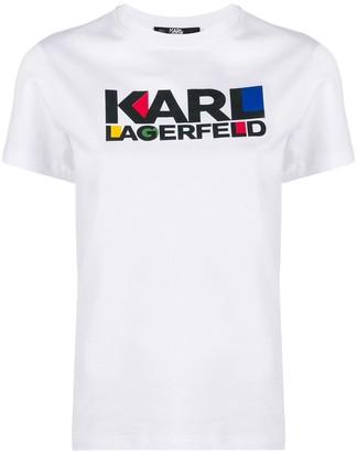 Karl Lagerfeld Paris Bauhaus logo T-shirt