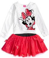 Disney Disney's Minnie Mouse 2-Pc. T-Shirt & Scooter Set, Little Girls (4-6X)