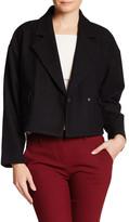 Pink Tartan Wool Blend Cropped Jacket