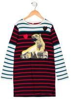 Stella McCartney Girls' Long Sleeve Polar Bear Dress