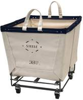 Pottery Barn Large Rectangle Canvas Basket with Wheels