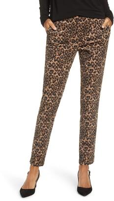 Gibson Leopard Print Tapered Leg Pants