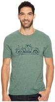 Life is Good Vintage Truck Bike Cool Tee Men's Short Sleeve Pullover