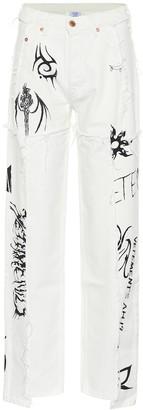Vetements x Levi'sA high-rise wide-leg jeans