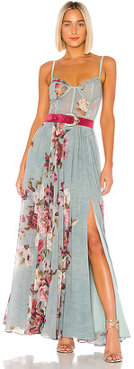PatBO Peony Bustier Maxi Dress