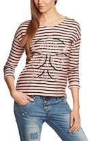 Garcia Women's X40008 Striped Boat Neck 3/4 Sleeve Sweatshirt