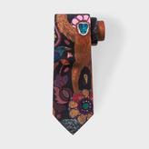 Paul Smith Men's Black 'Monkey' Print Narrow Silk Tie