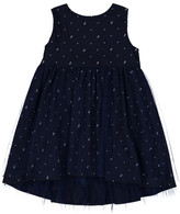Beetle & Thread Reindeer & Snowflake Print Hi-Lo Dress (Baby Girls)