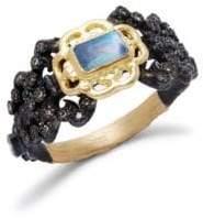 Armenta Diamond and Gemstone 18K Gold Ring