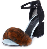 Alexander Wang Abby Fur Sandals