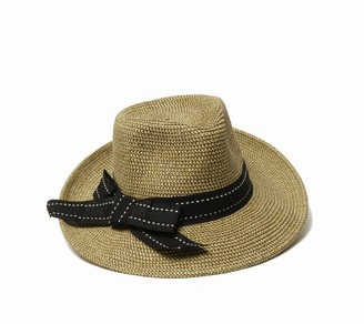 Physician Endorsed Women'sRich Pitch Fedora Packable Sun Hat with Ribbon Rated UPF 50+