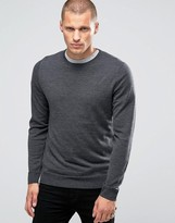 Jack and Jones Slim Merino Crew Knit Sweater