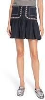 Etoile Isabel Marant Women's Jessie Embroidered Linen Skirt