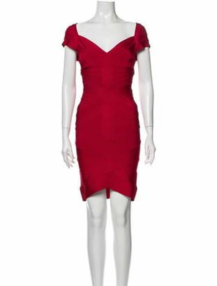 Herve Leger Kate Mini Dress Red