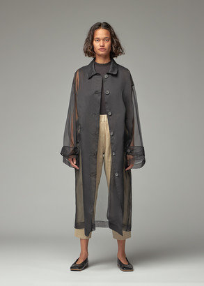 Dusan Women's Long Oversized Coat in Black 100% Silk