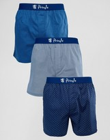 Pringle Woven Boxer 3 Pack With Spot Print