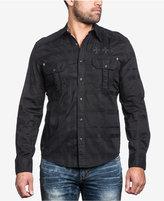 Affliction Men's Battlefield Woven Cotton Shirt