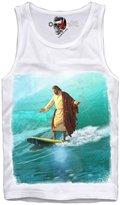 E1syndicate Tank Shirt Jesus Christus Surfs Up Surfing Waveriding Kite Wake S/M/L/Xl