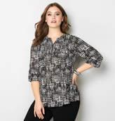 Avenue Crosshatch Zip Pullover