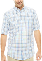 ST. JOHN'S BAY St. John's Bay Short-Sleeve Poplin Sport Shirt