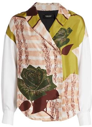 Rachel Comey Harriman Floral Silk Wrap Shirt