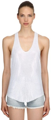 Alexandre Vauthier LVR EDITION HOLOGRAM CRYSTALS TANK TOP