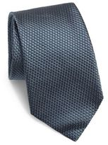 Corneliani Solid Quilted Silk Tie