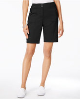 Karen Scott Ribbed-Waistband Bermuda Shorts, Only at Macy's